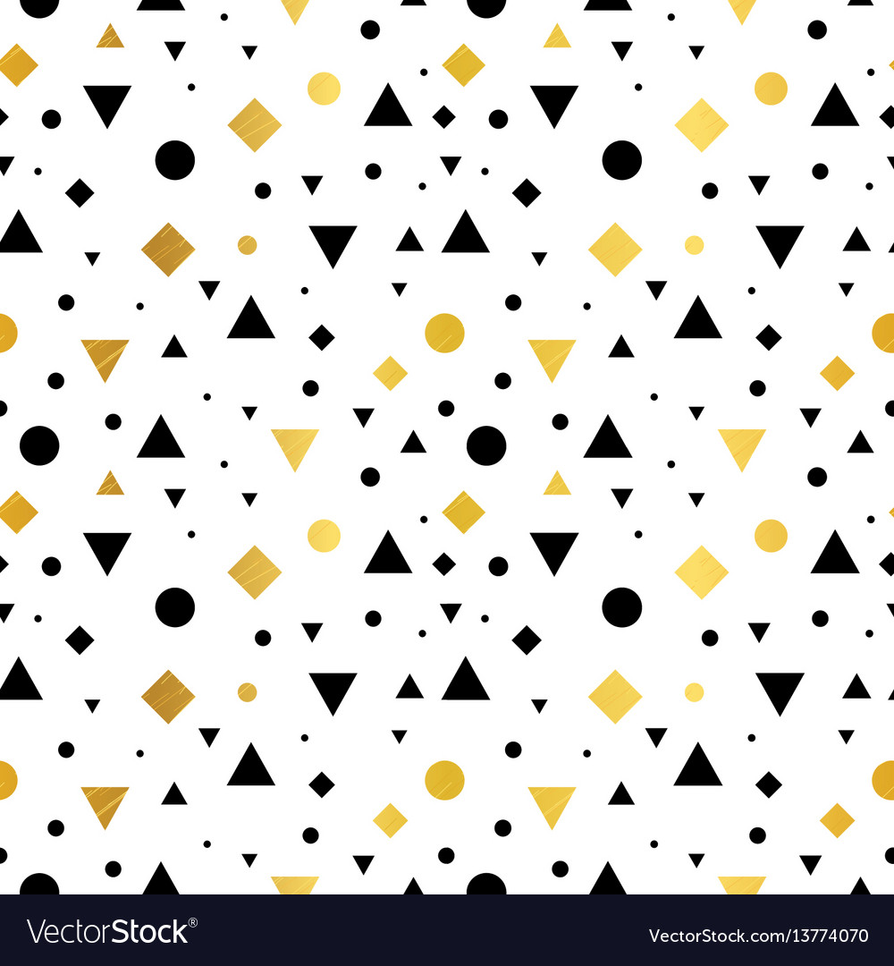 Gold black and white vintage geometric