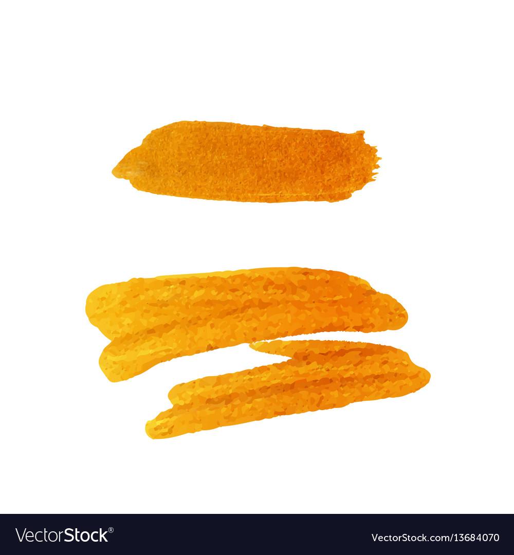 Golden brush stroke golden splash