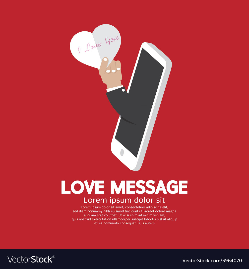 Heart In Hand From Smartphone Love Message Concept