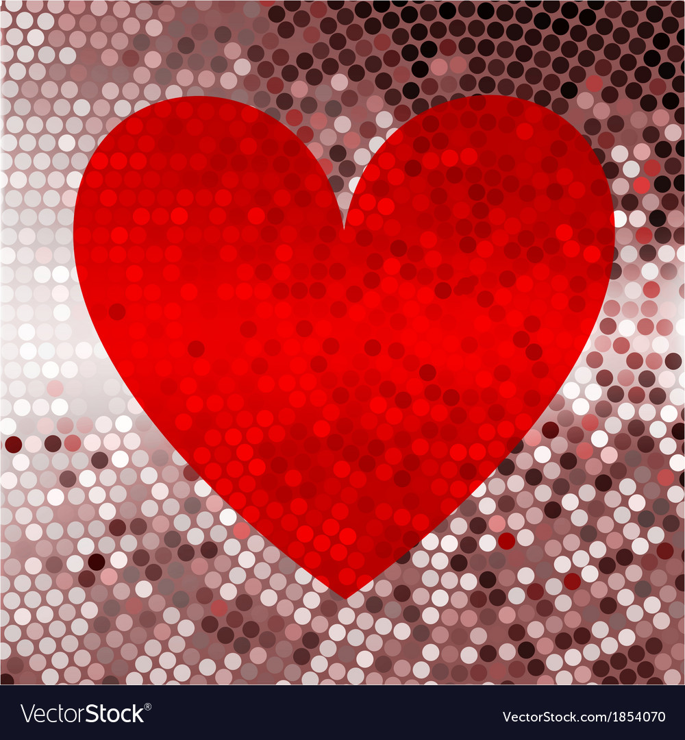Holiday red abstract background with hearts