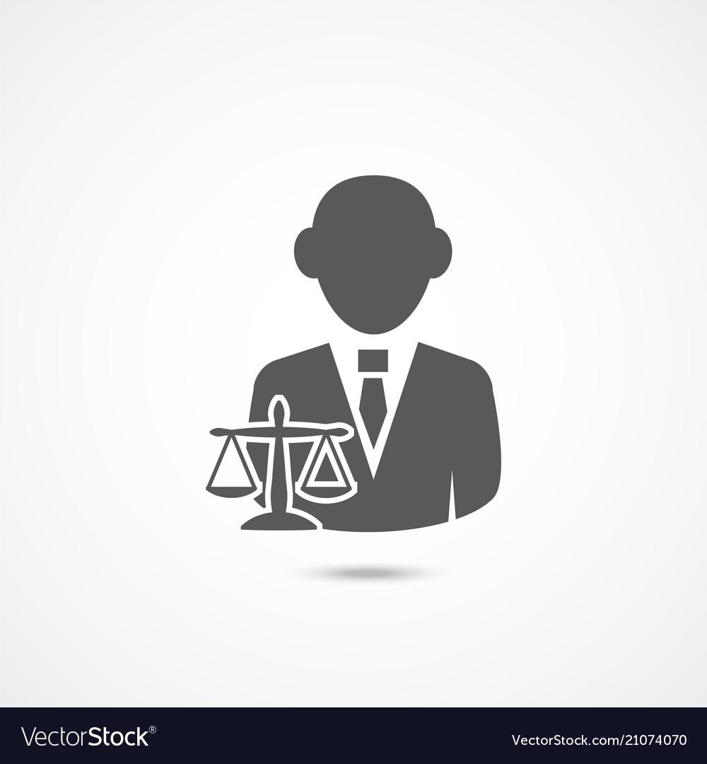Lawyer icon on white
