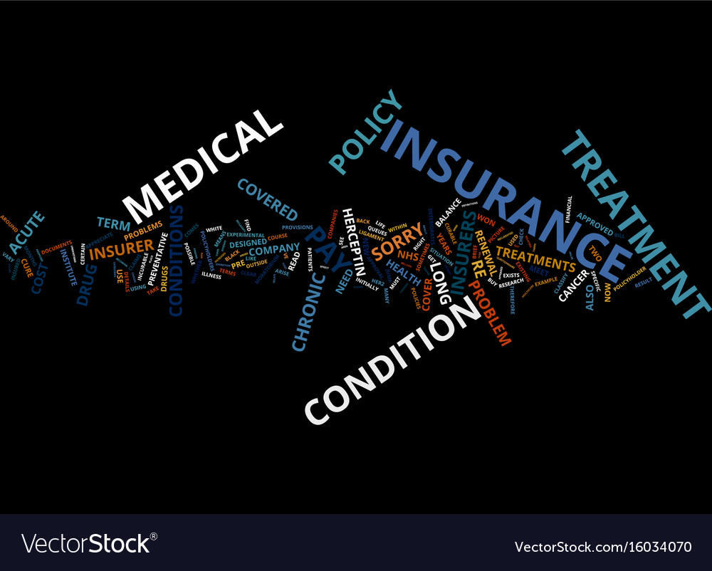 Medical insurance sorry you re not covered text vector image