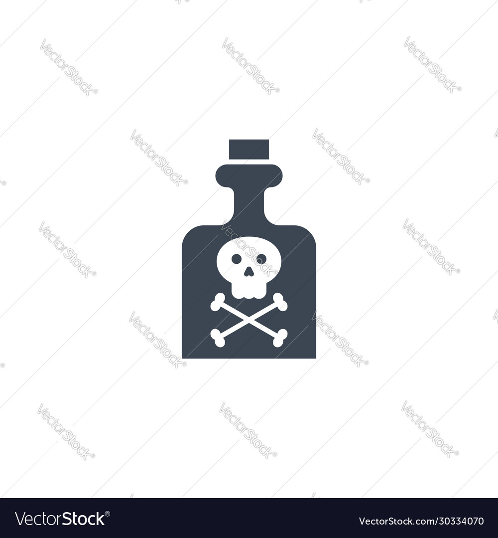 Poison related glyph icon