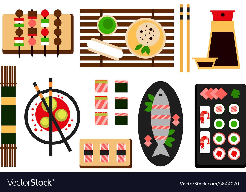 Restaurant asian cuisine flat icon