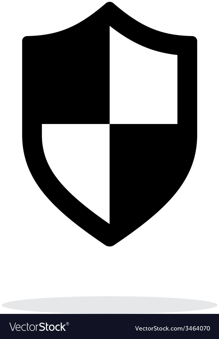 Shield icon on white background vector image