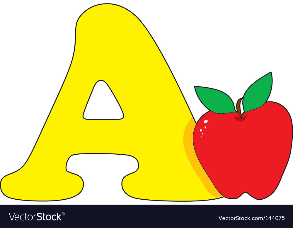 A Is For Apple Royalty Free Vector Image Vectorstock