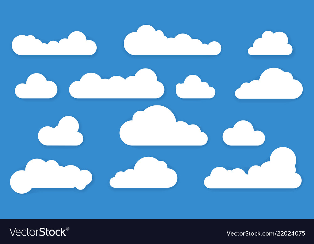 Clouds long shadow icons
