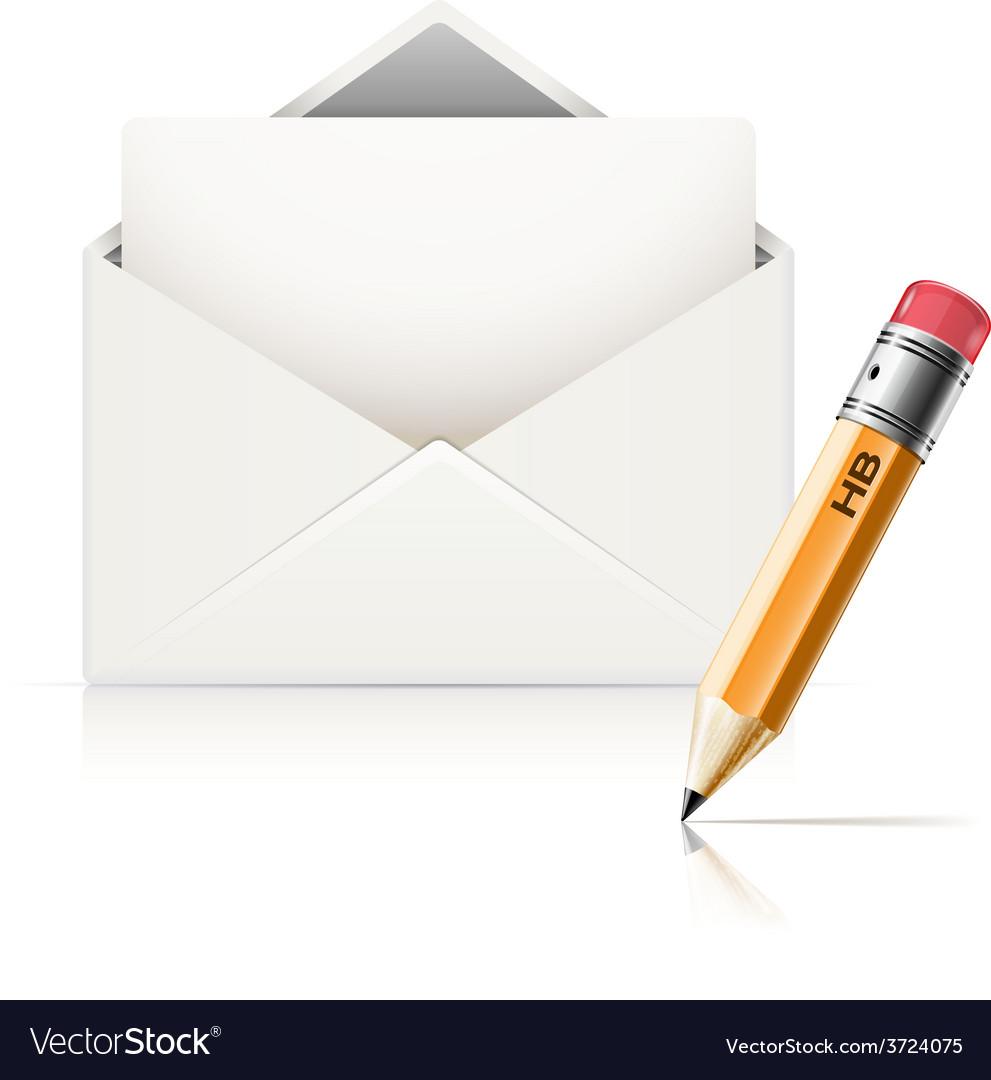 Envelope end pencil