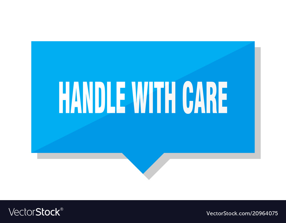 Handle with care price tag Royalty Free Vector Image
