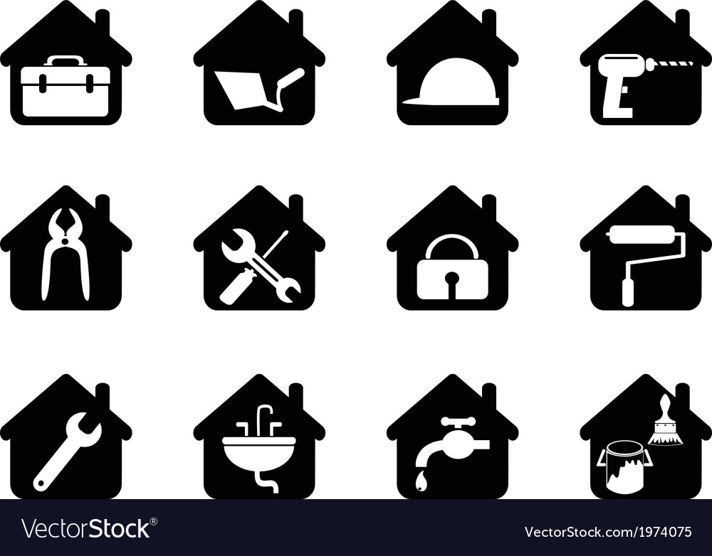House with tools icon