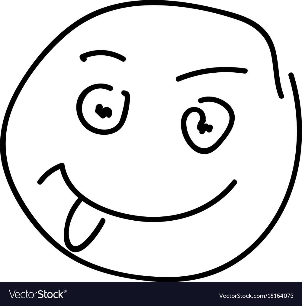 Sketch emoticon smiley face cartoon