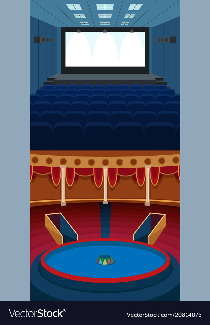 Theater stage with curtains entertainment