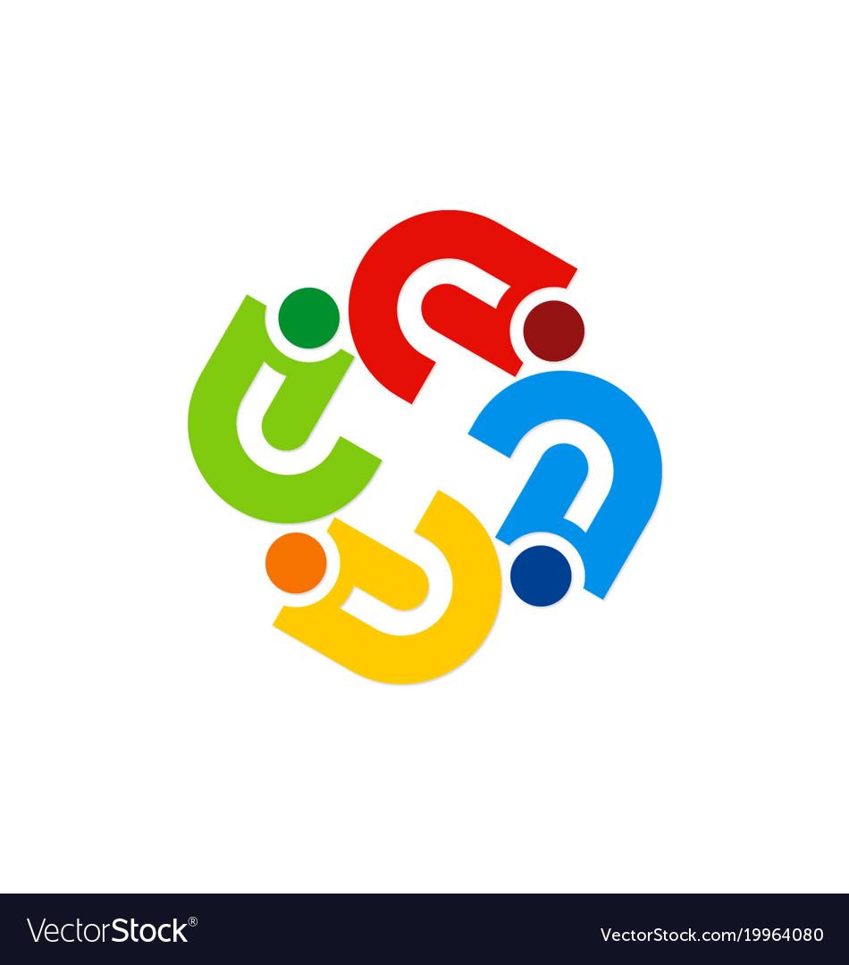 Circle abstract colorful diversity logo