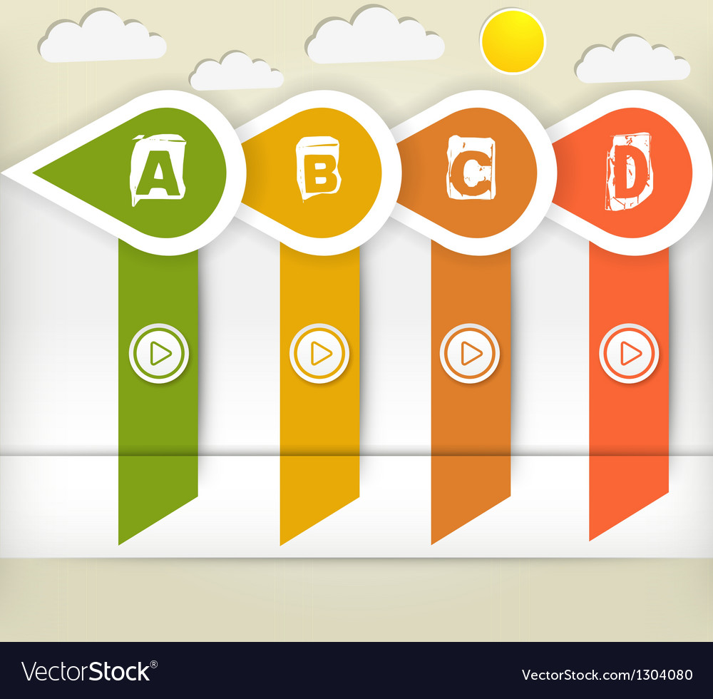 Modern style options banner vector image