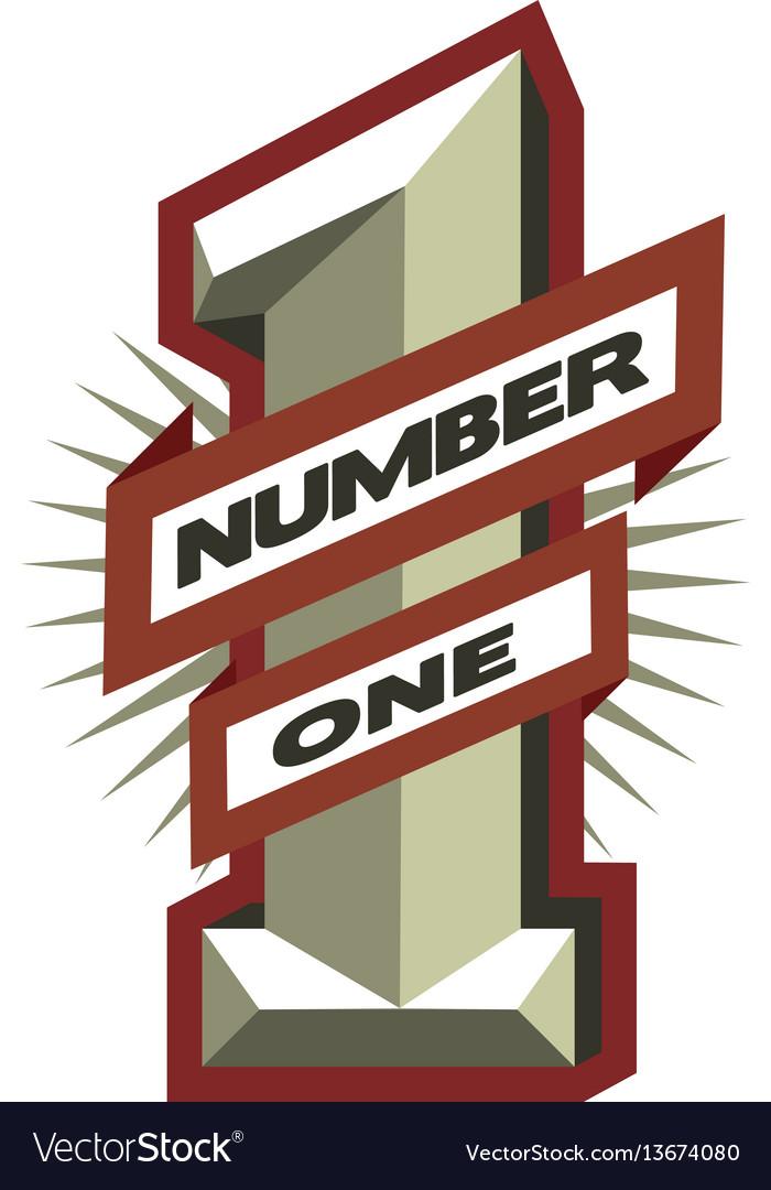 Number one leader winner symbol logo