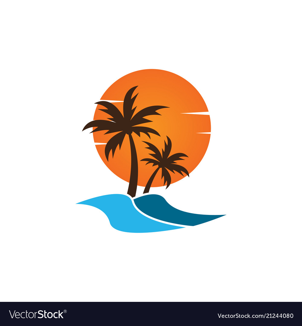 Summer logo icon template