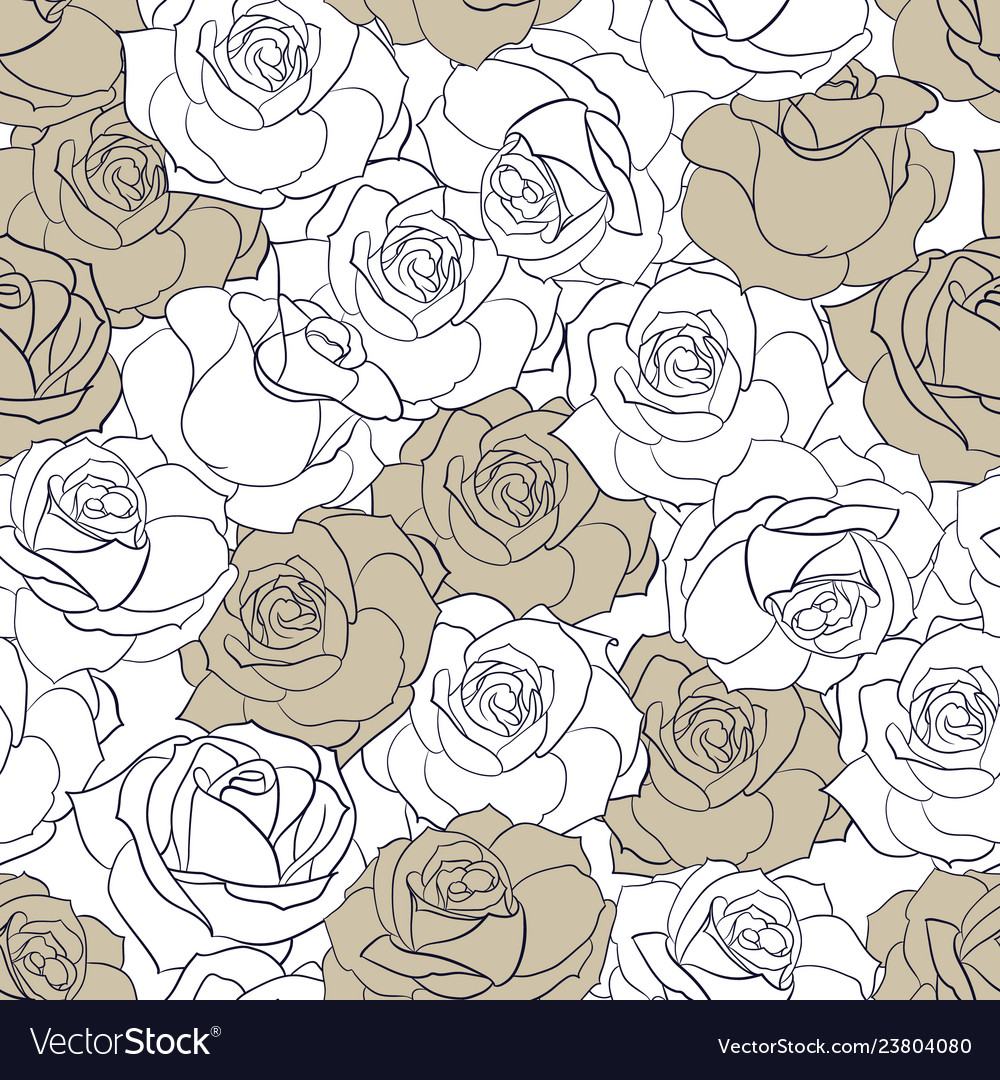 The rose flowers seamless pattern