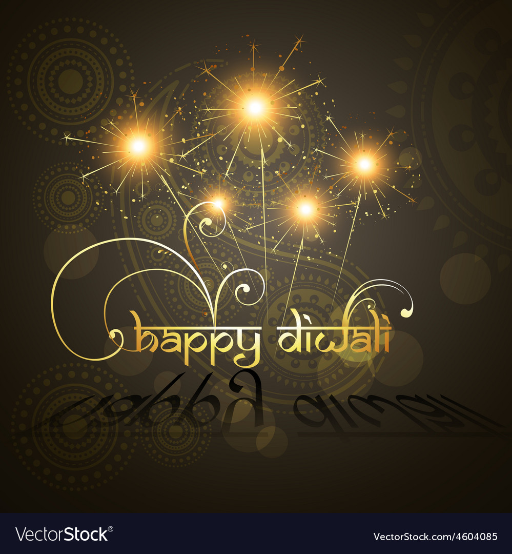 Beautiful hindu diwali festival art
