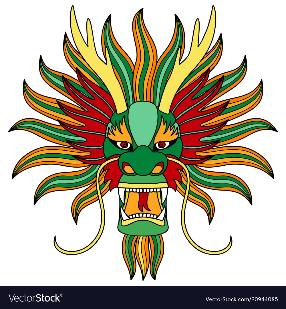Chinese dragon head