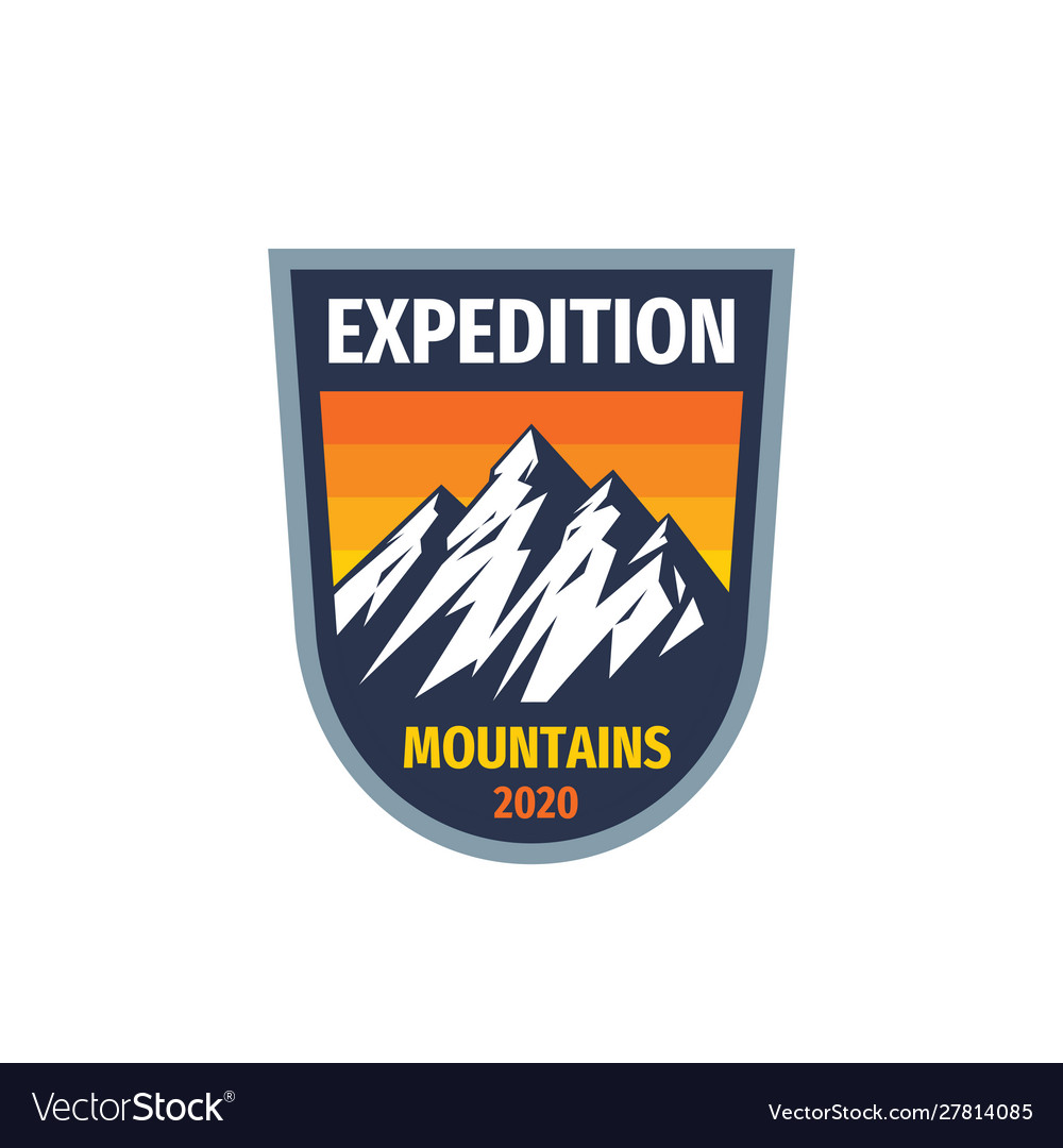 Expedition mountains - concept badge