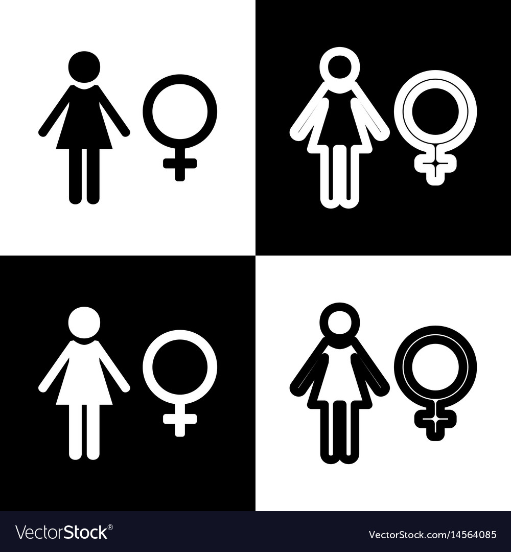 Female sign black and white