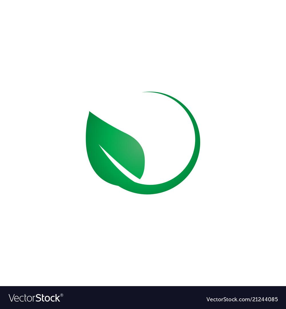 Green leaf logo icon design template