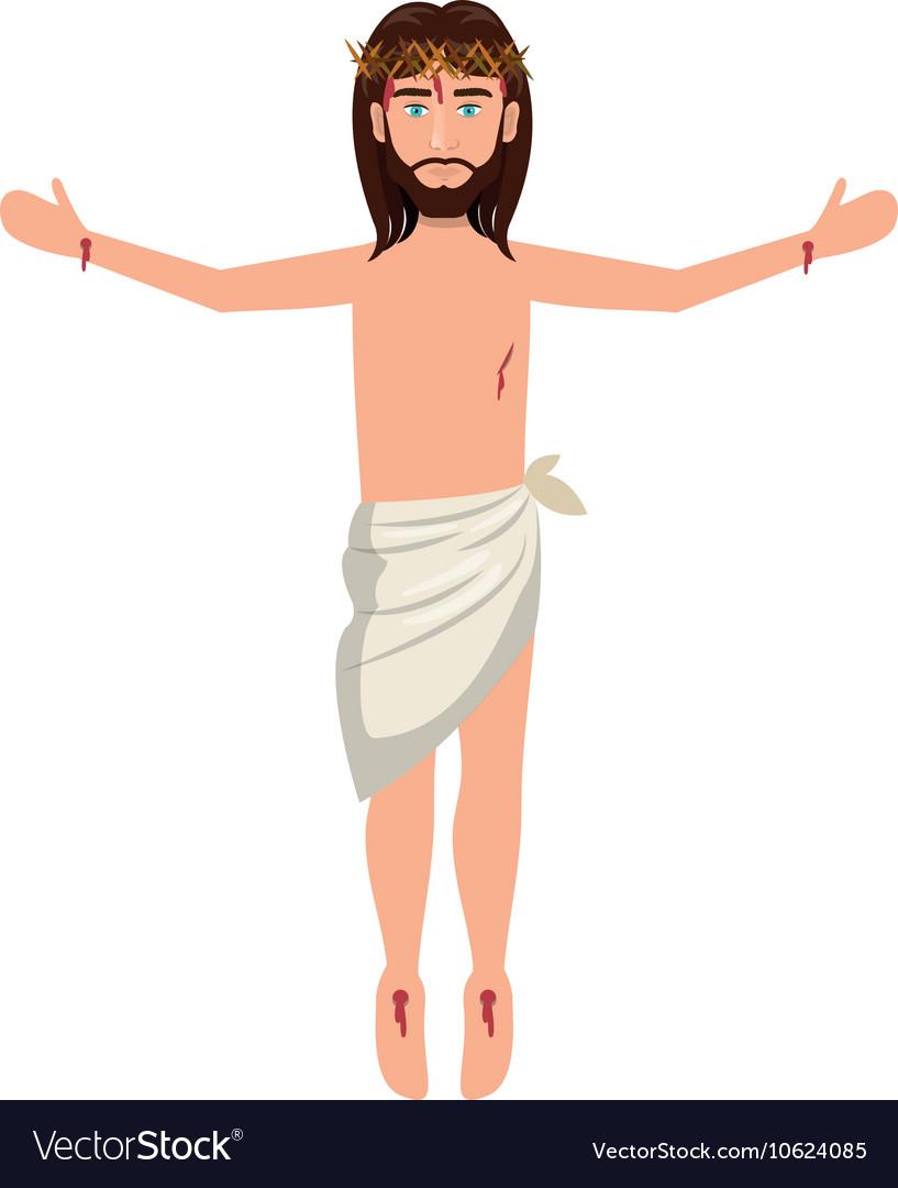 Jesus christ man cartoon