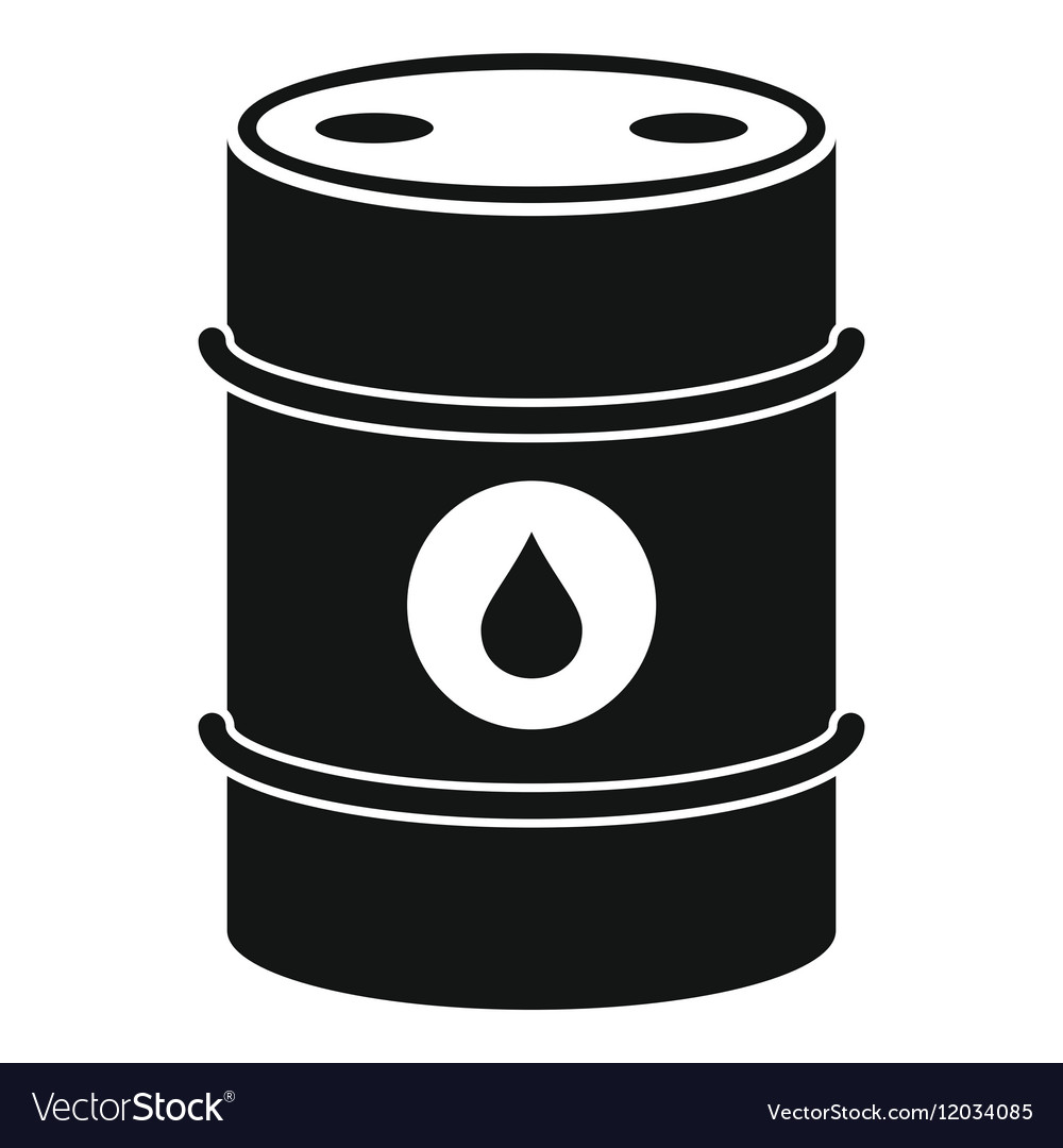 Metal oil barrel icon simple style Royalty Free Vector ImageOil Barrel Icon