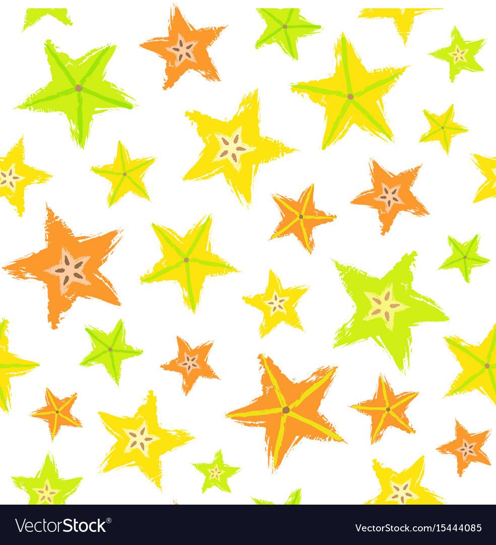 Starfruit background painted pattern