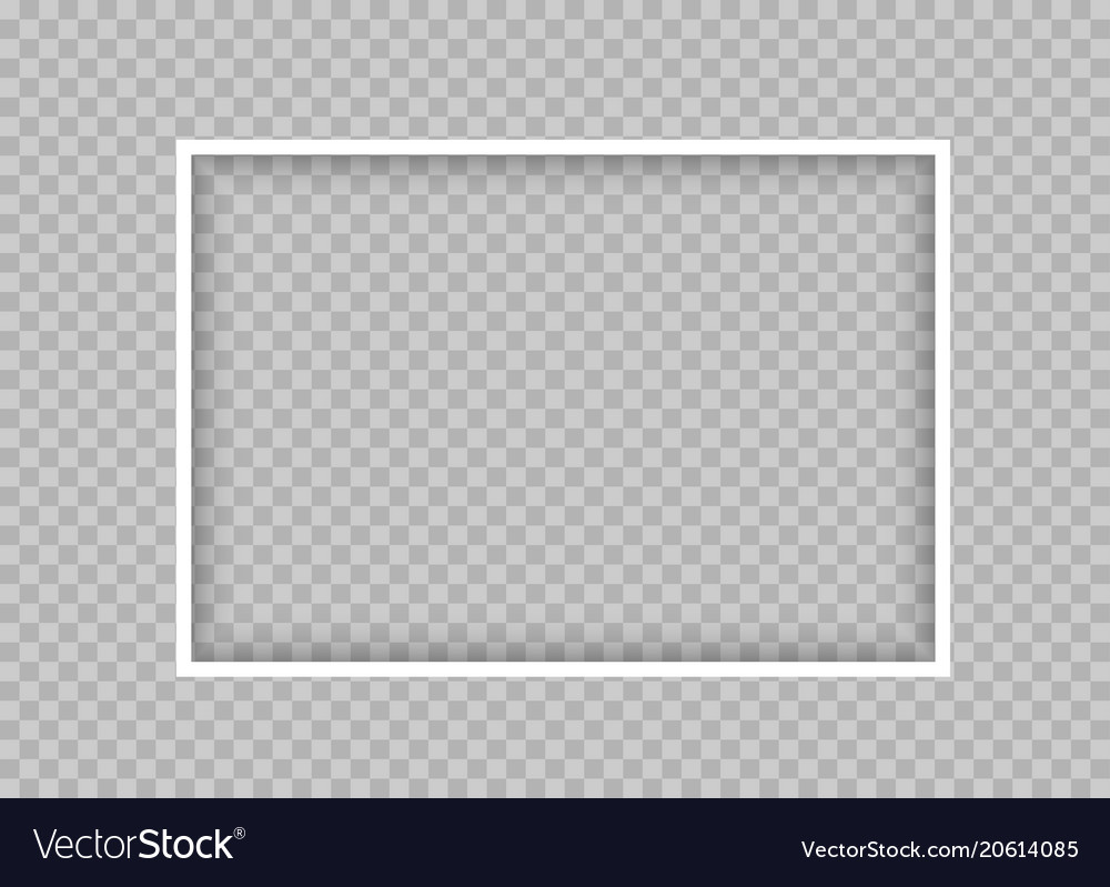 White thin rectangular frame with shadow Vector Image