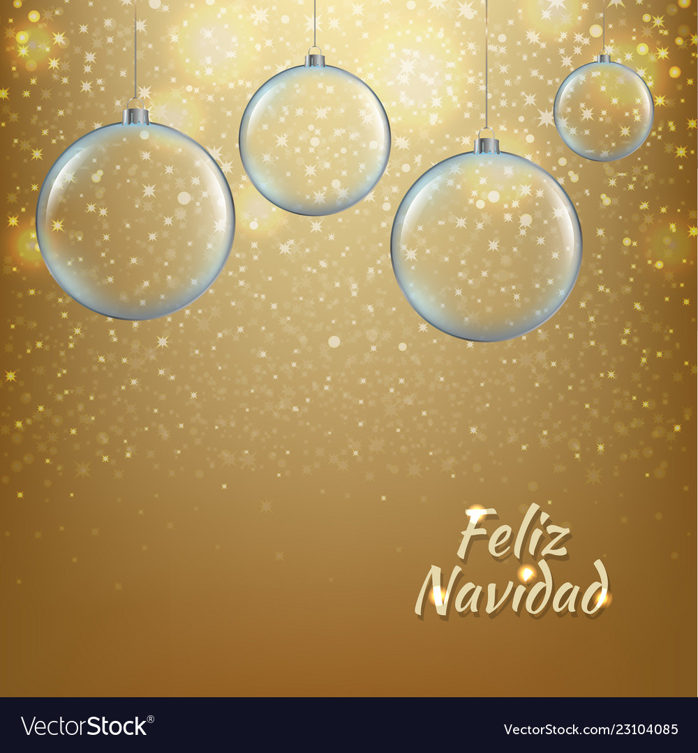 Xmas balls with golden background