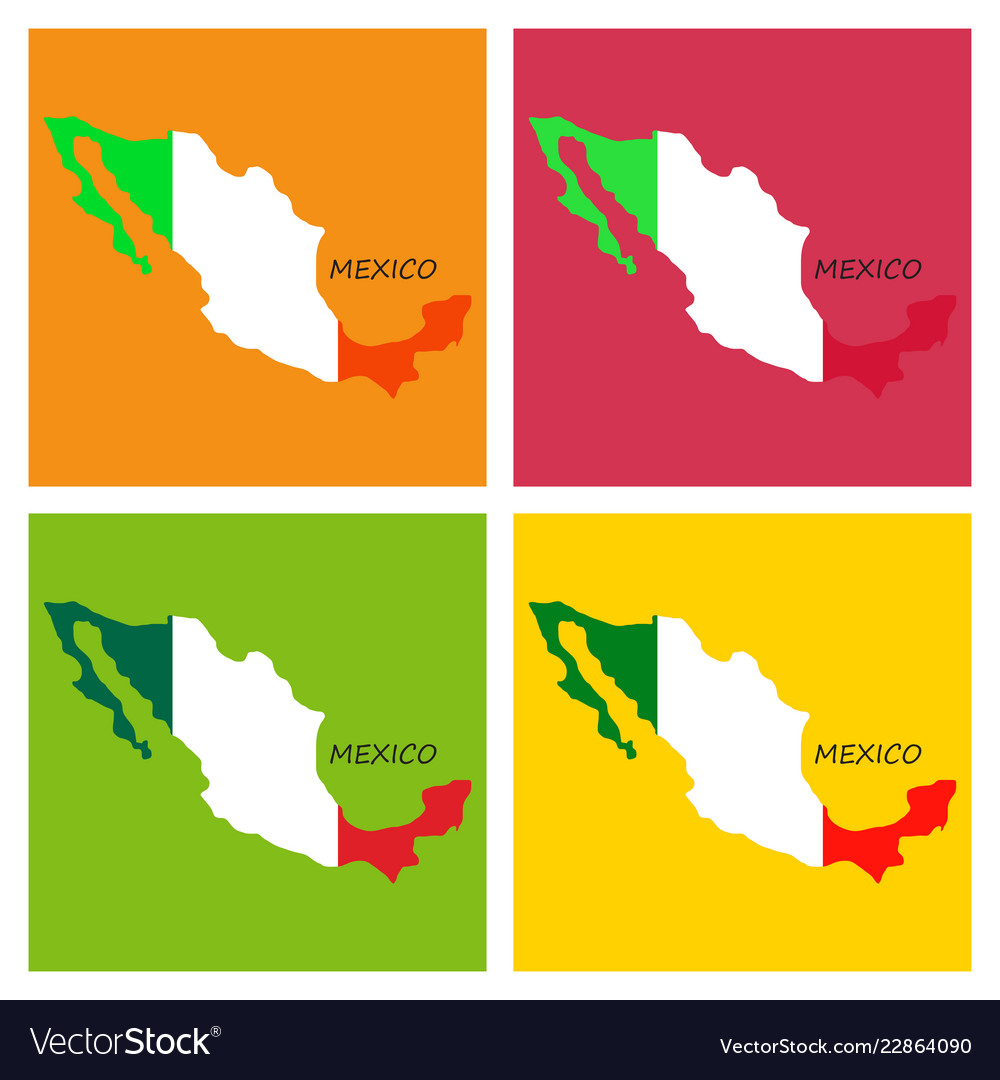 3d Flag Map Of Mexico Royalty Free Vector Image