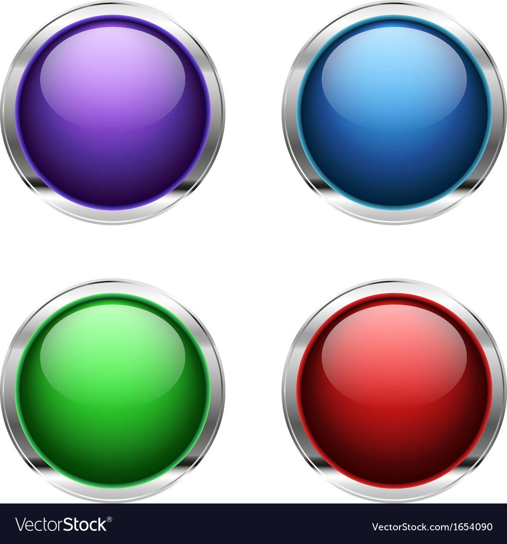 Abstract empty glossy buttons