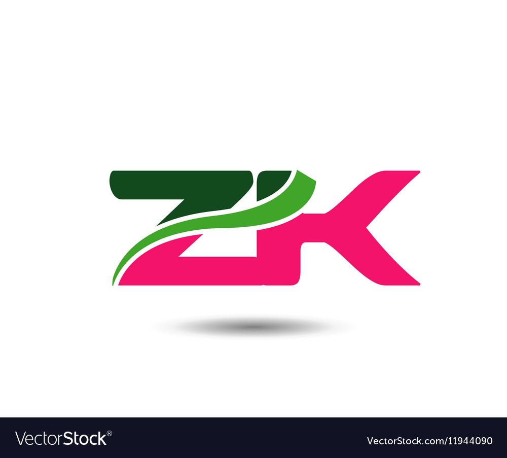 Alphabet Z and K letter logo