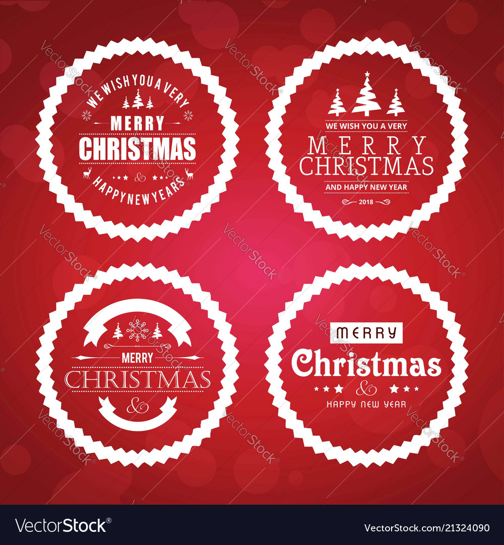 Chirstmas card set with red background