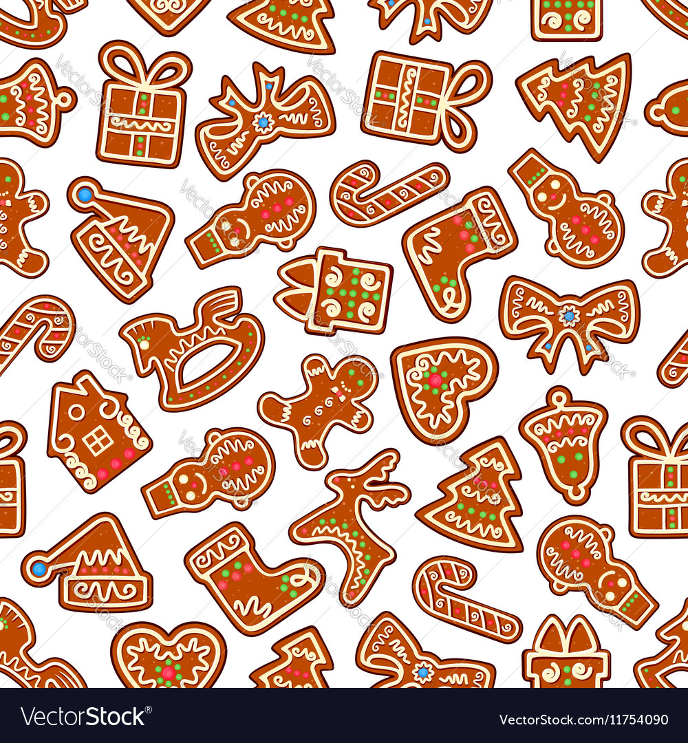 Christmas Cookies And Biscuits Seamless Background