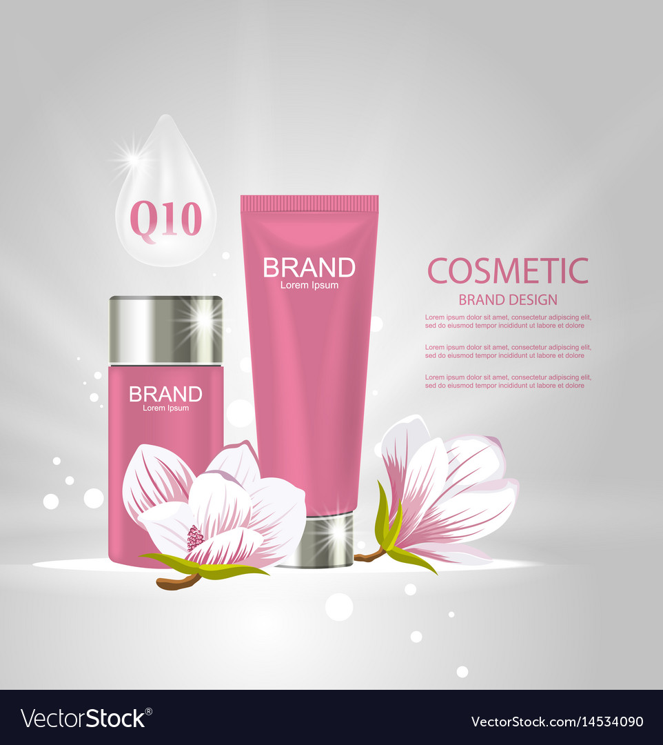 Design poster for cosmetics product advertising Vector Image