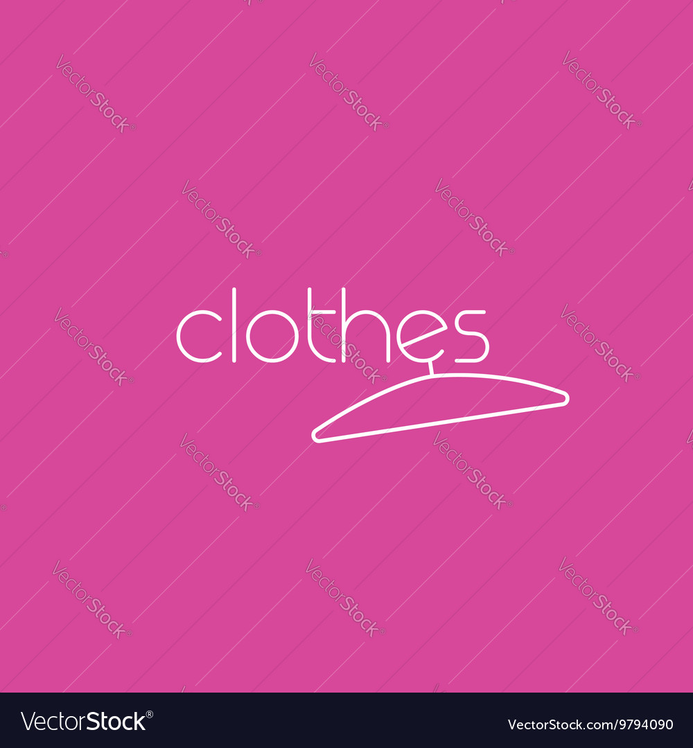 Fashion logo clothing concept with clothes