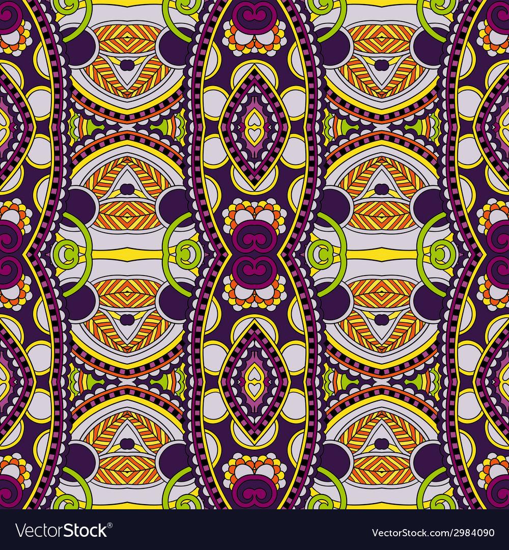 Geometry vintage floral seamless pattern vector image