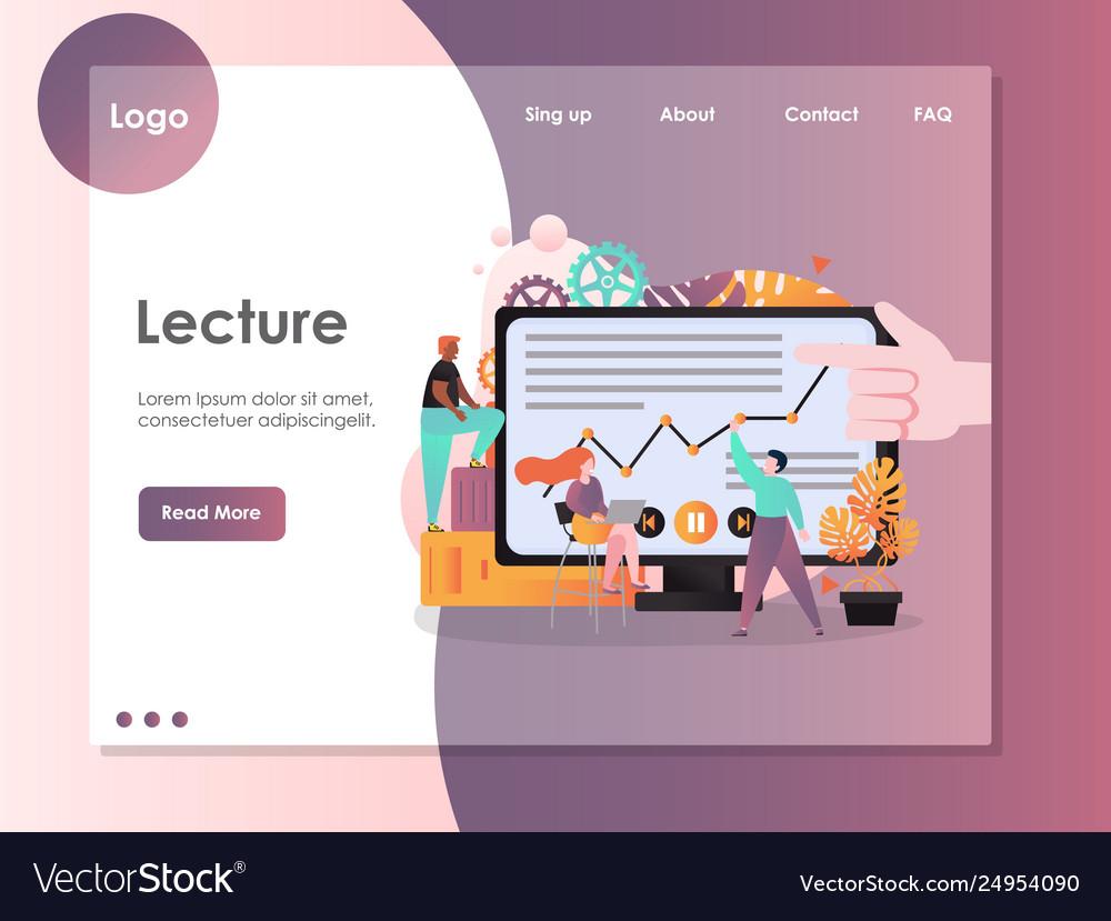 Lecture website landing page design