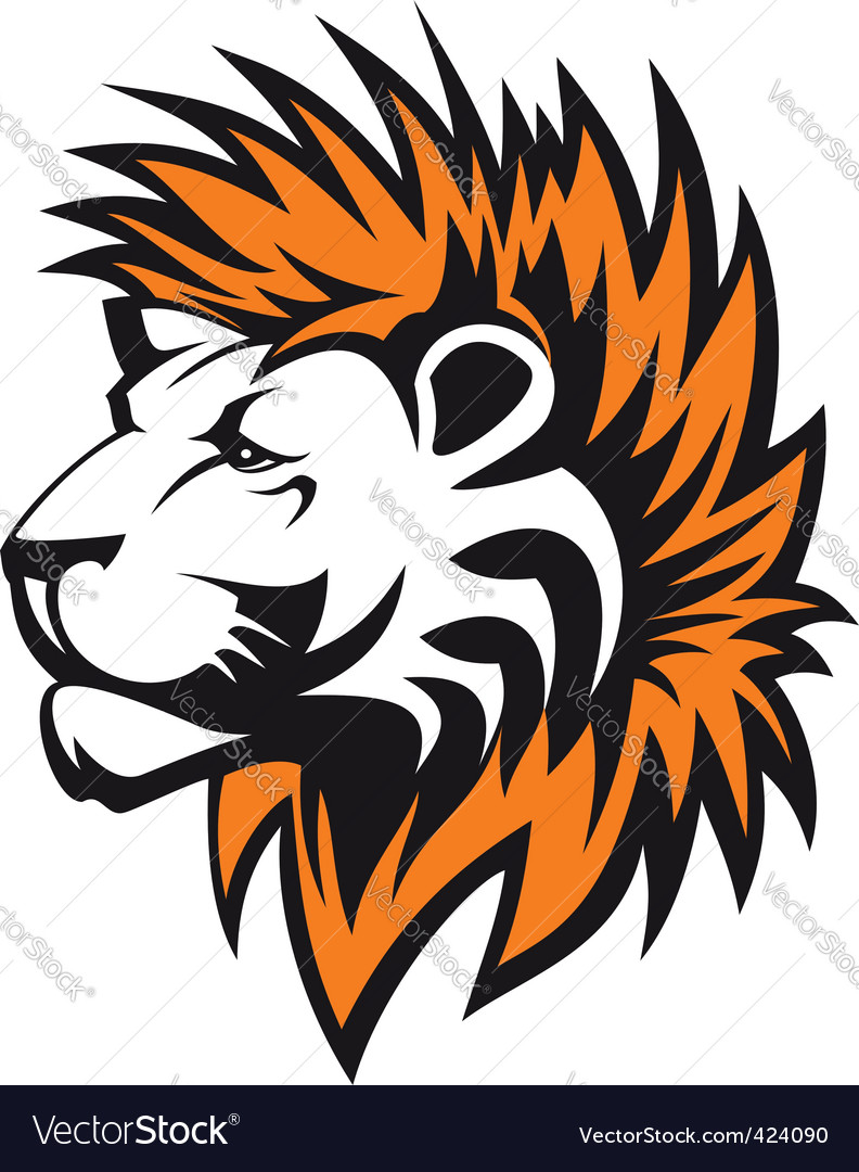 lion head royalty free vector image vectorstock rh vectorstock com vector lion king vector lion head