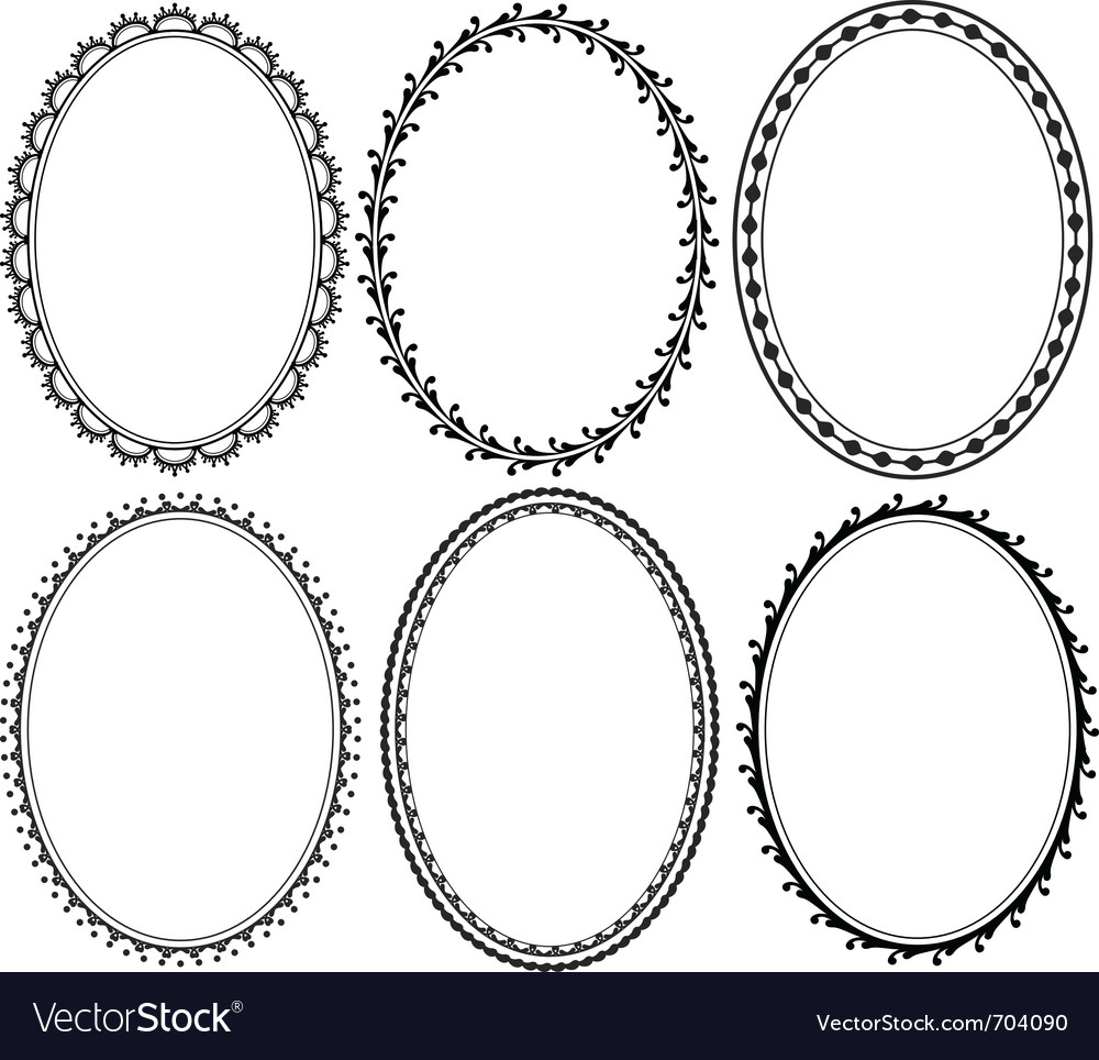 ornate oval border royalty free vector image vectorstock