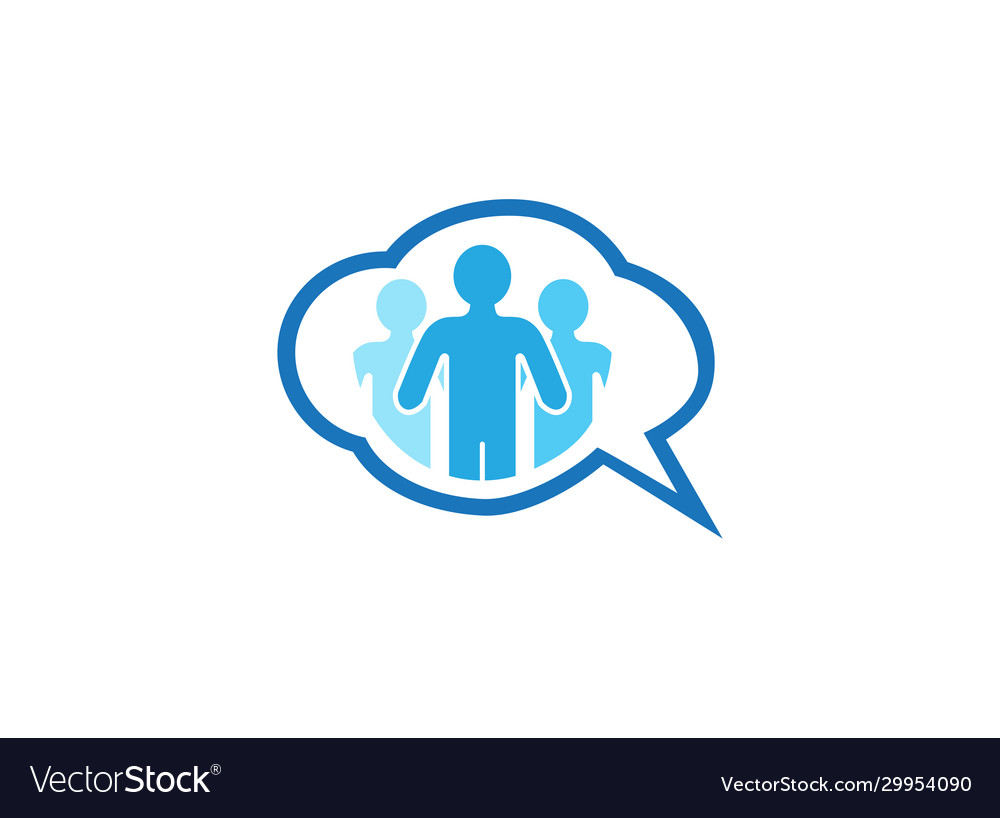People community chatting icon for logo design on