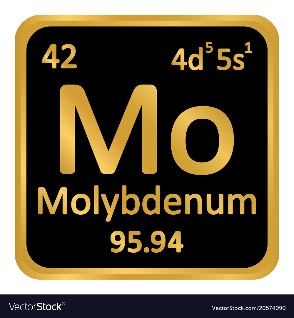 Periodic Table Element Molybdenum Icon Royalty Free Vector