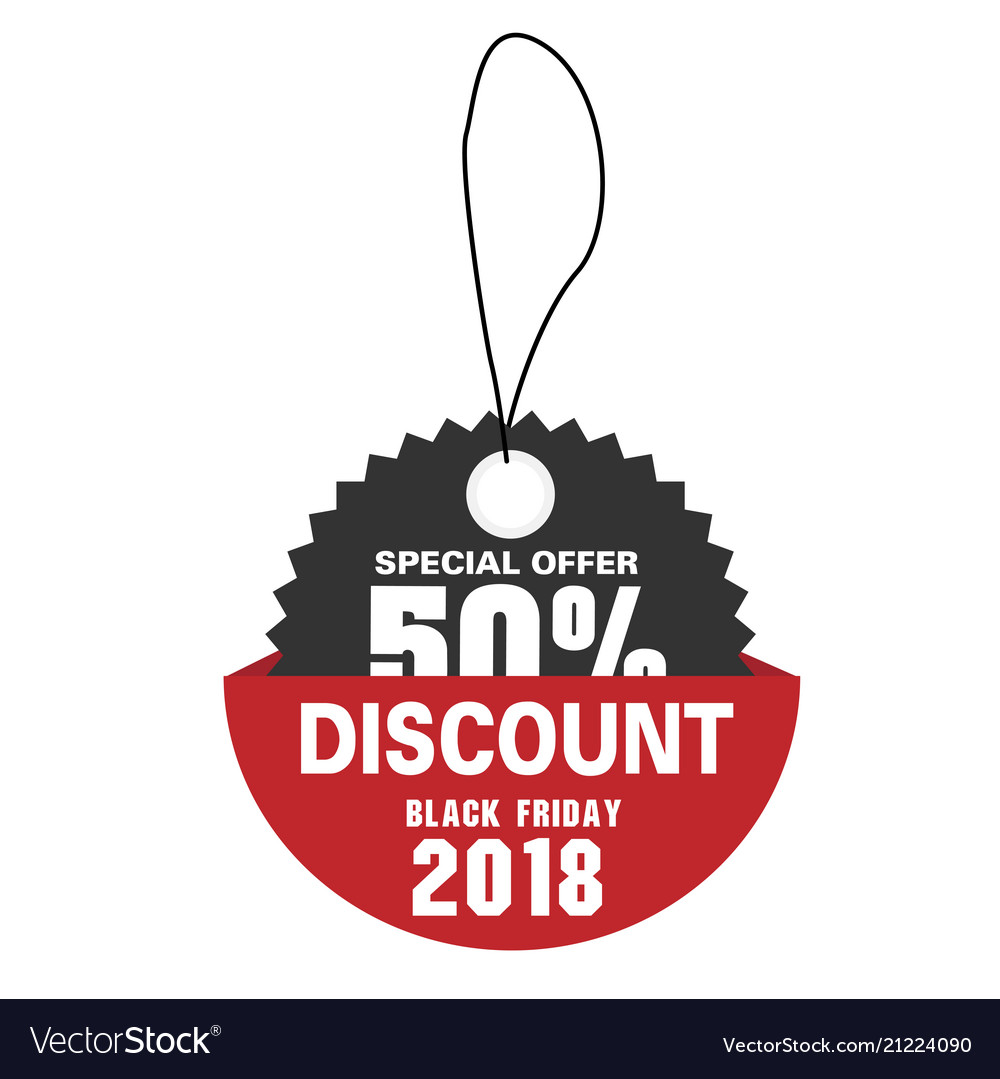 Price tag special offer 50 discount black friday