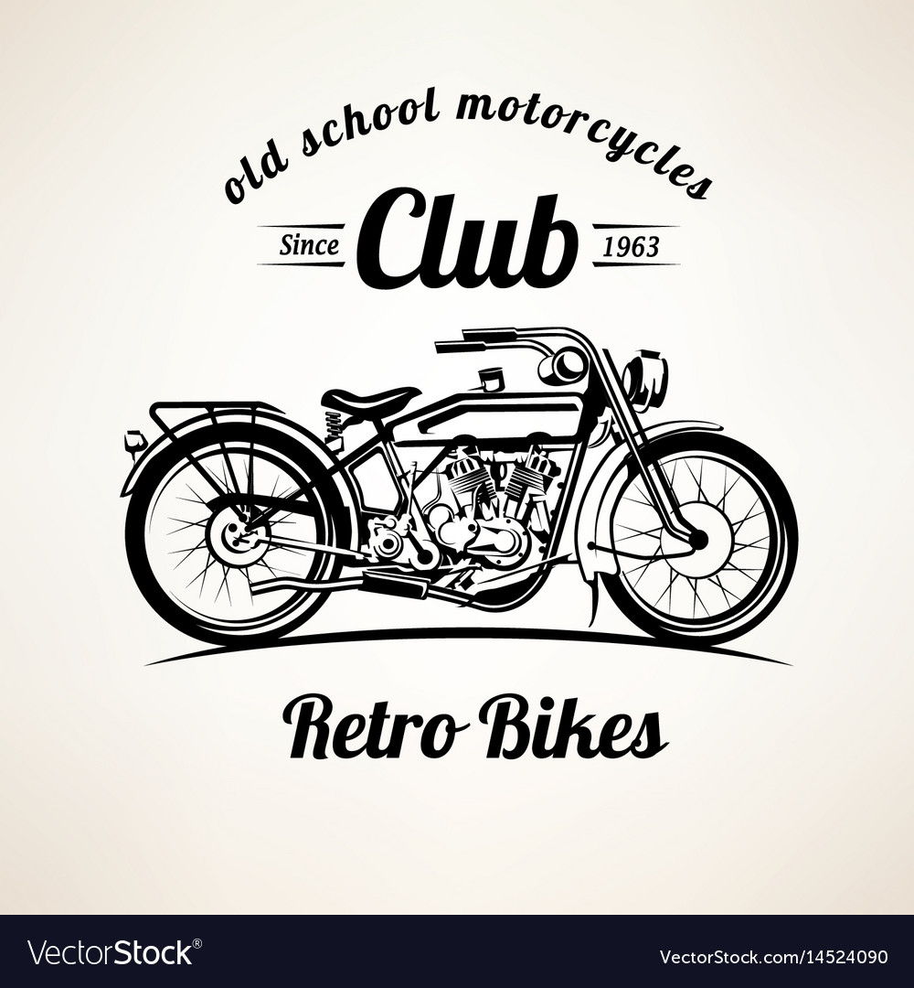 Retro motorbike emblems and labels template