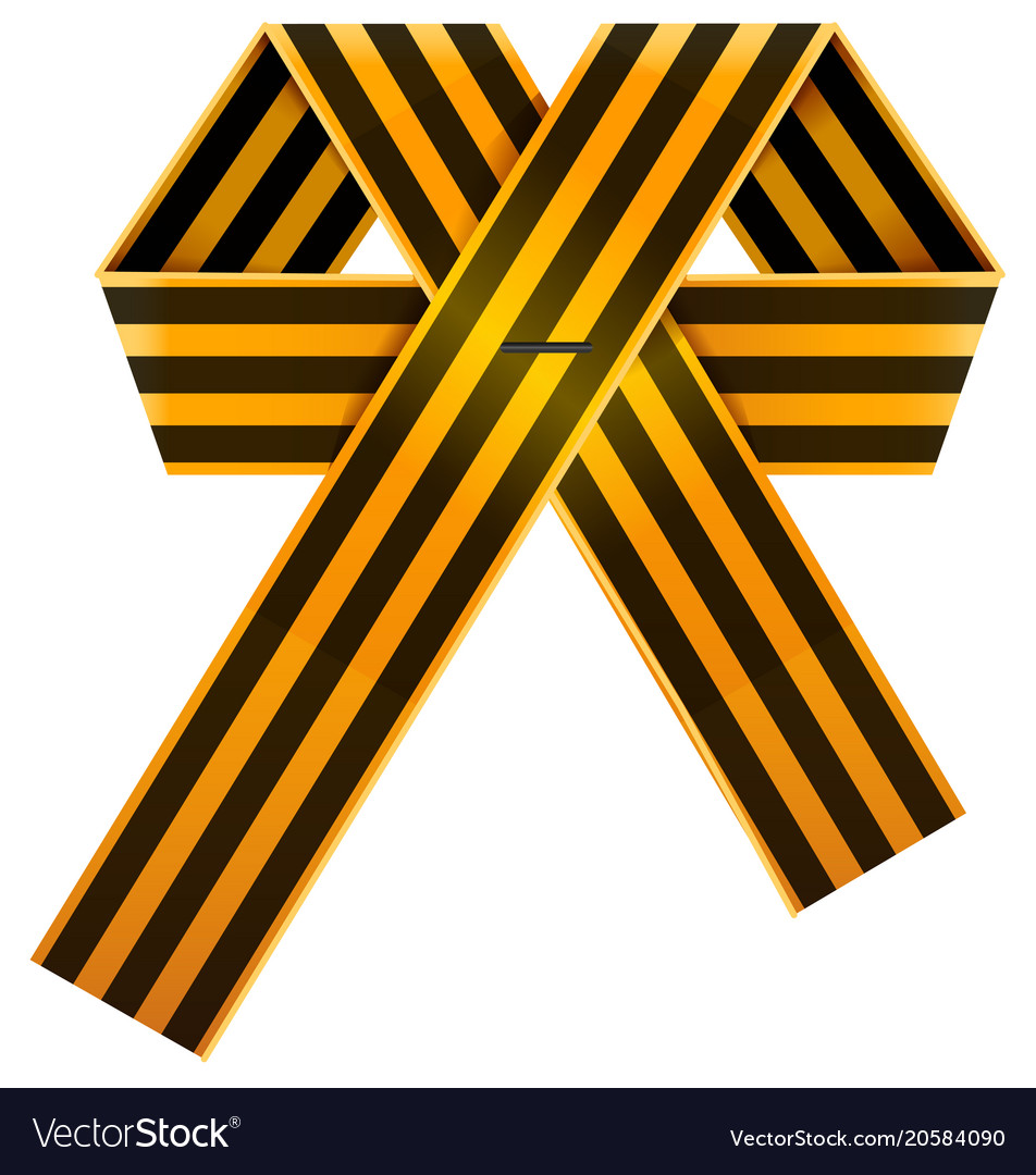 Russian striped st george ribbon bow symbol of