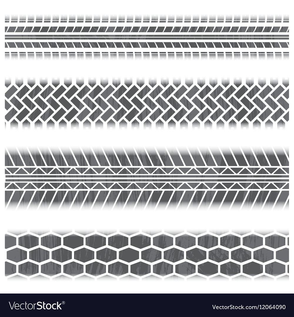 Tire track set vector image