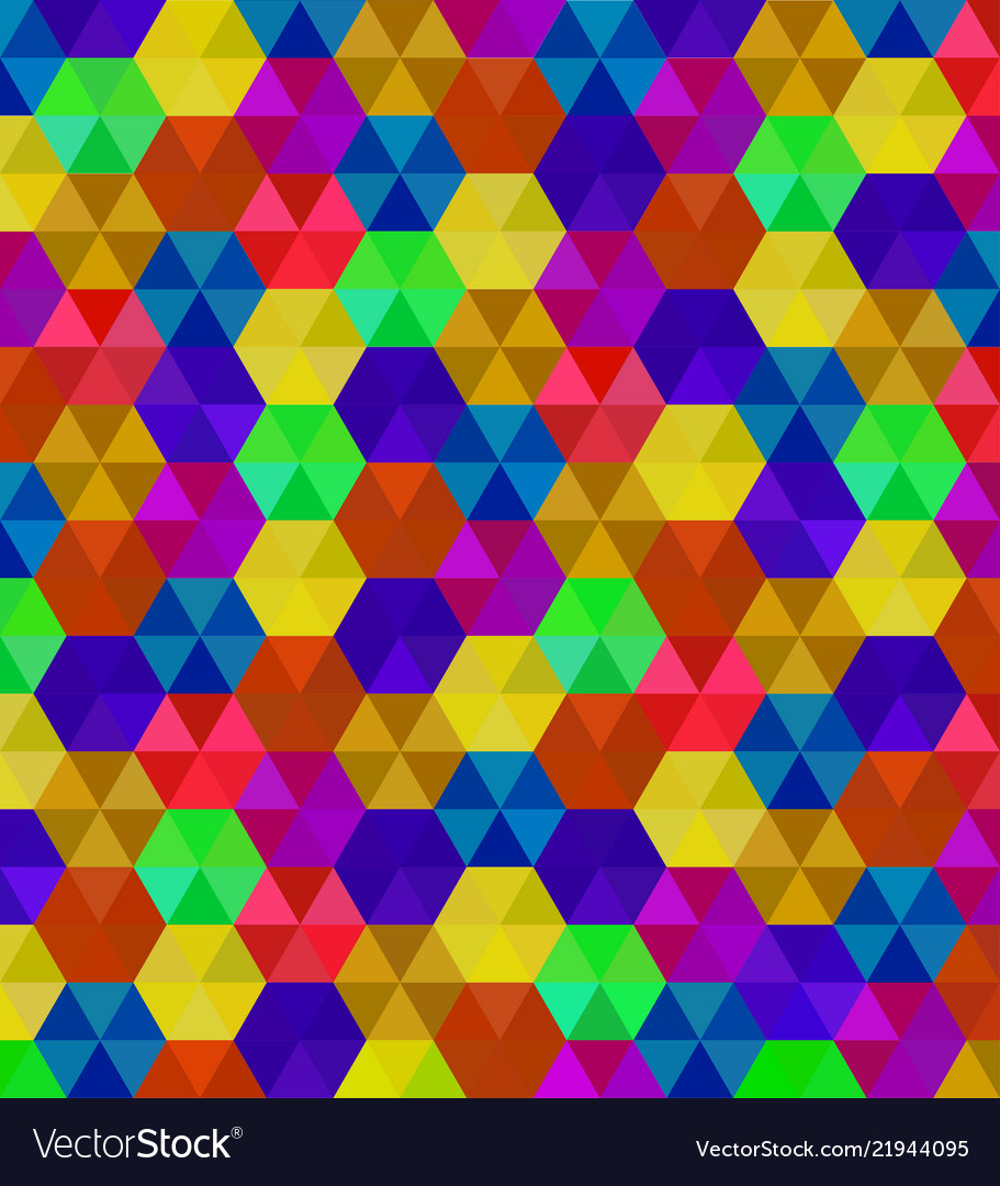 Abstract background of colorful hexagons pattern