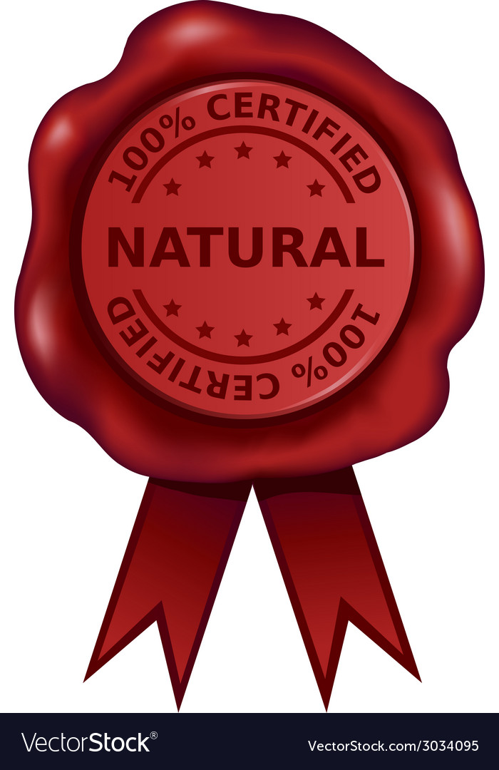 Certified Natural Wax Seal